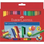 Carioca 20 culori Connector Faber-Castell