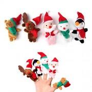 Finger Puppets Finger Toys,Danibos 5pcs Christmas Santa Claus Snowman Baby Stories Helper, Finger Puppets Finger Toys Set ,Christmas Gift For Kids(Finger Toy)
