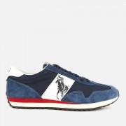 Polo Ralph Lauren Men's Train 90 PP Runner Style Trainers - Newport Navy/White - UK 11 - Blue