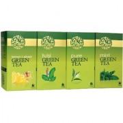 LaPlant Green Tea Combo V - 100 Tea Bags (Pack of 4 Pure Tulsi Mint Lemon-Ginger)
