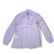 Bluza eleganta din voal roz pudra