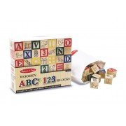 Wooden ABC 123 Blocks by Melissa & Doug
