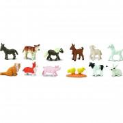 Pui animale de la ferma Safari Toob Set 12 figurine
