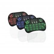 I8 Mini Teclado Inalámbrico Con 3 Colores De Retroiluminación 2.4GHz Air Mouse Touchpad Juego (negro)