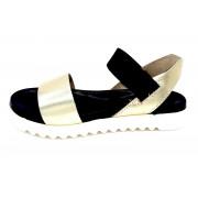 ESTRO Made in Italy Sandalo Fusbet Con Fascia Elastico - Estro - Oro - D-552/xcp-19
