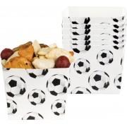12 stuks voetbal snackbakjes 40cl