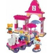 Set constructie Unico Plus Hello Kitty Parc de distractii cu masinuta 51 piese