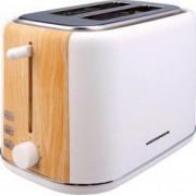 Prajitor de paine Heinner HTP-WH800BB 800W 2 felii dezghetare 7 niveluri de rumenire Alb