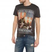 Wrangler T-Shirt Wrangler Born to Ride T-Shirt phantom S schwarz