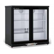 Coreco Frigo Bar 2 Portes Noir Porte en Verre 2 Niveaux réglables 200 Litres 92,5x52x(H)90cm