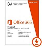 Office 365 Personal, Abonament anual, 1 utilizator, Multi Language, 1 PC/MAC + 1 Tableta/Smartphone, Licenta ESD (Electronica)