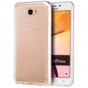 Funda Case Para Samsung J7 Prime Protector Transparente De Acrílico Con Bordes De Plastico TPU - Transparente