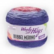 Woolly Hugs Bobbel Merino von Woolly Hugs, Blau/Rot