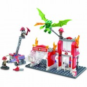 Set de constructie Hasbro KRE-O Fire Station Dragon Attack