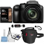 Ritz Camera Panasonic Lumix DC-FZ80 Digital Camera, Lexar Professional 600x 16GB SDHC 2 Pack Bulk Memory Cards, Ritz Gear Camera Bag, Cleaning Kit and Accessory Bundle