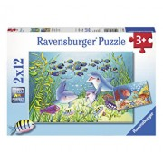 Puzzle Animale din ocean, 2x12 piese
