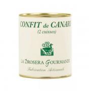 La Drosera gourmande Confit de canard (cuisses) - Boîte 1.9kg - 5 à 8 cuisses