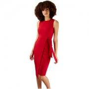 Closet London Rochie Closet Tie V-Back Pencil Dress Red S