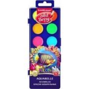 Set acuarele neon cu protectie UV - 12 culori