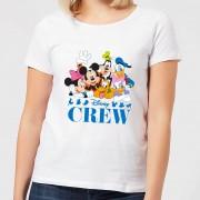 Disney Crew dames t-shirt - Wit - XS - Wit