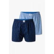 C&A Boxershorts-biokatoen-duopack, Blauw, Maat: S