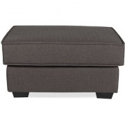 Oritz Ottoman Charcoal Grey Color
