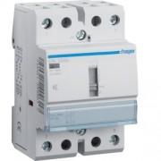Csendes moduláris kontaktor 40A, kézi kapcsolással, 2 Záró érintkező, 12V AC/DC 50 Hz (Hager ERL240S)