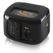 Friteuza Swan SD6080BLKN, Putere 1800 W, Termostat, Fereastra vizionare, Capacitate 2.5 Litri