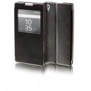 Wigento Booktasche fönster svart för Sony Xperia Z5 5,2 tum