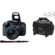 Cámara Reflex Canon Eos Rebel T7i 24.2 Megapixeles Kit Con Lente 18-135 Wifi Bundle Maleta Y Memoria16gb