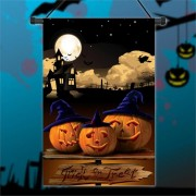 30x45cm Halloween Polyester Pumpkins Night Flag Garden Holiday Decoration