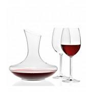 Leonardo Decanteerkaraf Trio met twee elegante rode wijnglazen