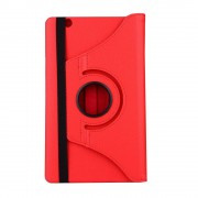 Shop4 - Huawei MediaPad M3 Hoes - Rotatie Cover Lychee Rood