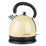 Klarstein Teatime Kettle Kettle 2200W 1.8 litri ceainic, crem, din oțel inoxidabil Crem