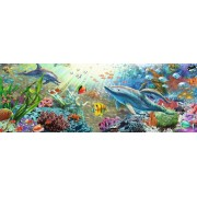 Puzzle panoramic Jumbo - Underwater Paradise, 1.000 piese (18519)