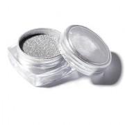 Nail Glitter Powder Magic Mirror Chrome Nail Art Decoration With Free Nail Brush - Silver