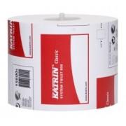 Hartie igienica pentru dispenser, 12 role/ bax, 2 straturi, alba, KATRIN System, jumbo
