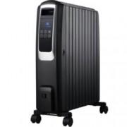 Mаслен радиатор FR-1025T BL, Защита срещу прегряване, LED дисплей, С дистанционно управление, 2500W, черен