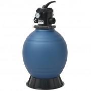 vidaXL kék kerek homokszűrő medence szivattyú 18 hüvelyk/460 mm