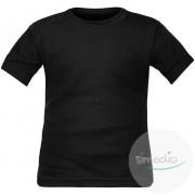 SiMEDIO T-shirt enfant noir manches courtes ou longues - 8 ans Courtes