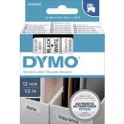 DYMO Páska do štítkovače DYMO 45013 (S0720530), 12 mm, D1, 7 m, černá/bílá