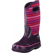 Bogs Classic Stripes Kids Purple Multi, Skor, Stövlar & Stövletter, Gummistövlar, Rosa, Lila, Barn, 23