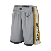 Short de NBA Cleveland Cavaliers Nike City Edition Swingman pour Homme - Argent