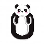 Suport telefon flexibil Urs Panda, TG by AleXer, 8190136, negru, plastic, metal, saculet si laveta incluse