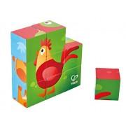 Hape Farm Animal Block Puzzle Game, Multicolor, 5'' x 2''