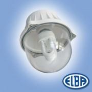 Por és páramentes lámpa EI 04 BOLO 1x75W átlátszó polikarbonát búra, 2 kábelbevezető IP54 Elba