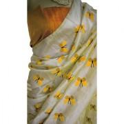 Indian Style Sarees New Arrivals Latest Women's Cream Zarna Silk Printed Bollywood Designer Saree