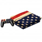 US Vlag patroon Stickers voor PS4 Game Console