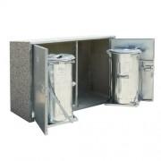 Kukatároló szekrény-2 fém kuka tárolására alkalmas 3456