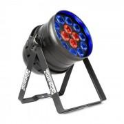 Beamz BPP225 PAR 64 Foco LED 6 en 1 LEDs RGBWA-UV 200W Negro (151.160)